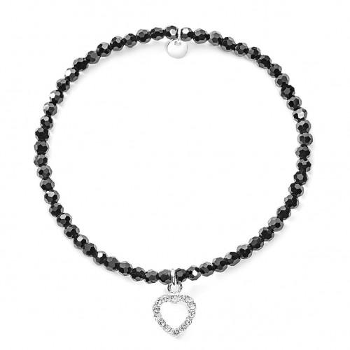 Herz-Armband mit Glasperlen