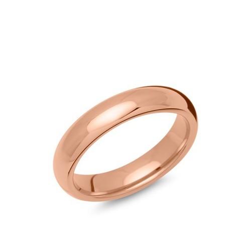 Herren Edelstahlring rosévergoldet, 5mm
