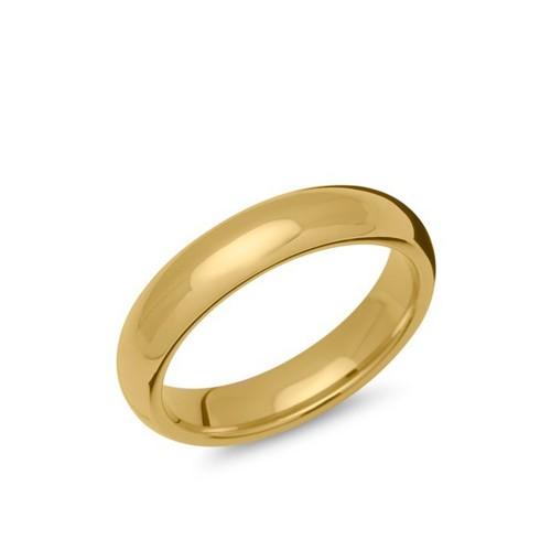 Herren Edelstahlring vergoldet, 5mm