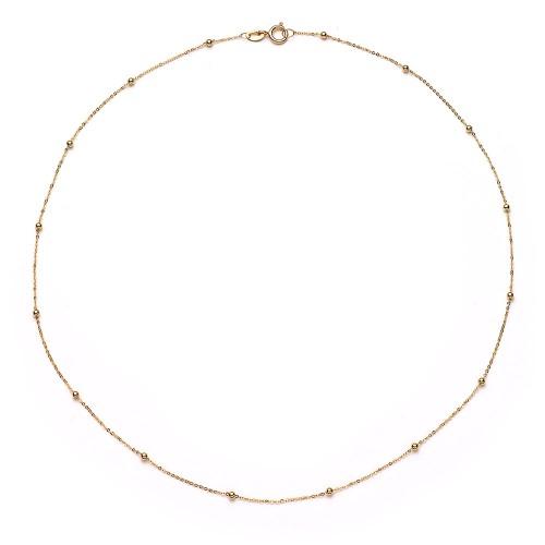 18K Echtgold-Halskette