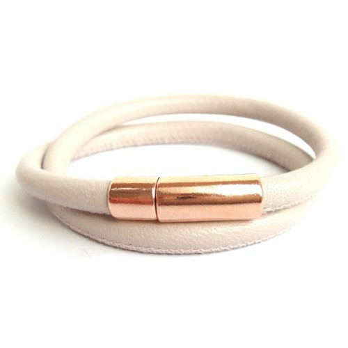 Lederarmband Perfect Rose puder