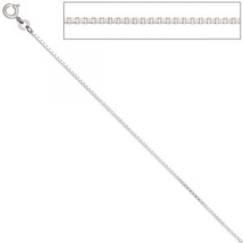 Venezianerkette 333 Weißgold 1,2 mm 333 Gold Kette Halskette Federring