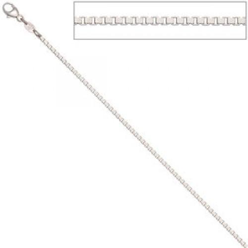 Venezianerkette 1,5 mm 585 Weißgold Halskette Karabiner