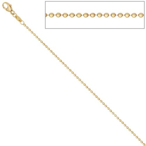 Kugelkette 585 Gelbgold Gold Kette Halskette Goldkette Karabiner