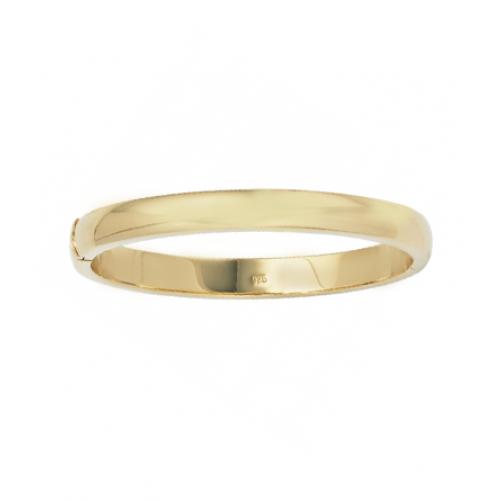 Armreif oval 925 Sterling Silber vergoldet Kastenschloss