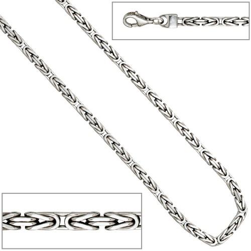 Königskette 925 Sterling Silber 45 cm Halskette Kette Silberkette Karabiner