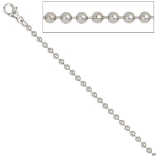 Kugelkette 925 Silber Halskette Kette Silberkette Karabiner