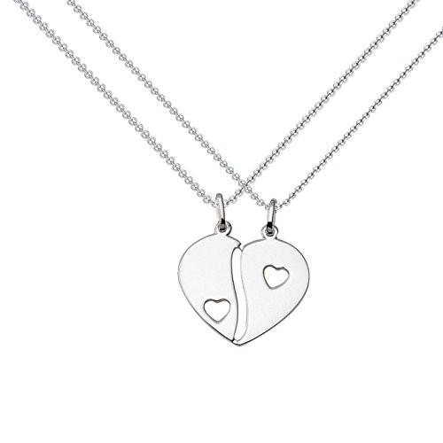 Kette Silber (Silber 925) - Herz - Triple Heart Partnerkette