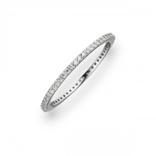 Ring 925 Sterlingsilber Zirkonia weiß