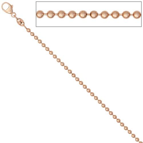 Kugelkette 585 Rotgold 2,0 mm Gold Kette Halskette Goldkette Karabiner