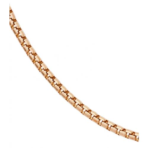 Venezianerkette 45 cm 925 Silber rotvergoldet Halskette Kette Karabiner