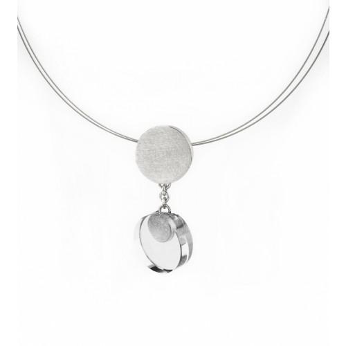 Halskette Anhänger Bergkristall klein