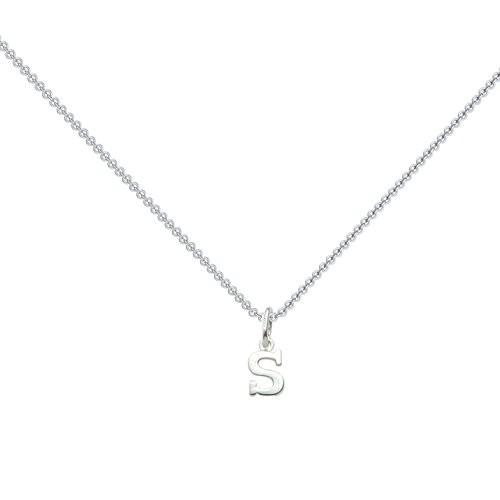 Kette Silber (Silber 925) - Buchstabe Buchstabe - Love Letter S Amoonic
