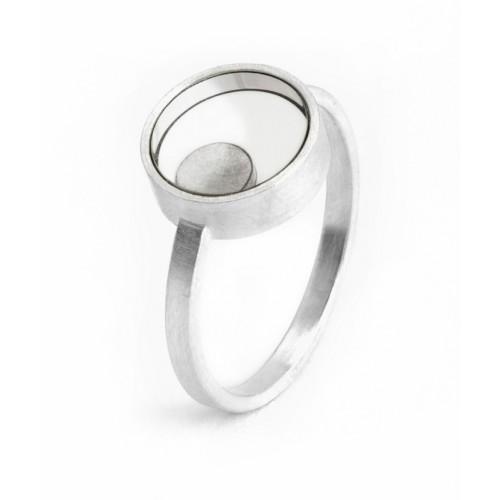 Ring Silber Bergkristall