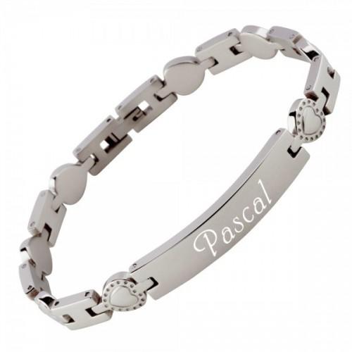 Edelstahl Armband, gravierbar