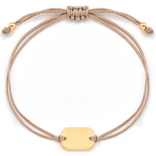 Gravierbares Dog-Tag Armband Feminine - 925 Sterlingsilber