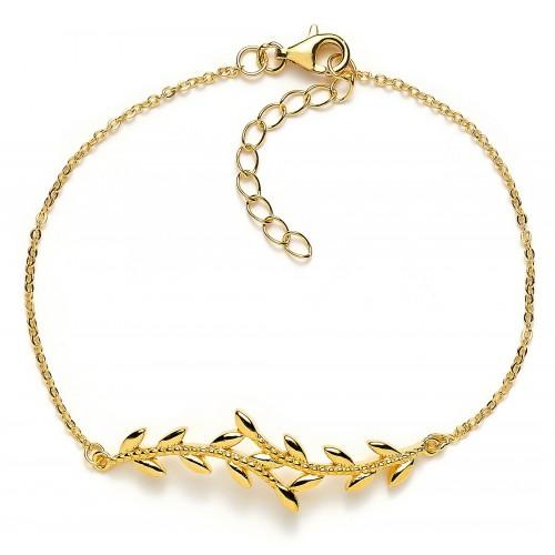 Armband Olivenzweig - 925 Sterlingsilber
