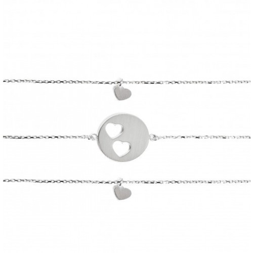 "Armband-Set ""Carry Two Hearts"" - gravierbar"