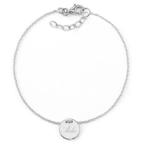 "Armband ""Aloha"" mit Rückseitengravur | 925 Sterlingsilber"