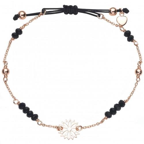 """Armband """"Black Flower"""" - 925 Sterlingsilber"""