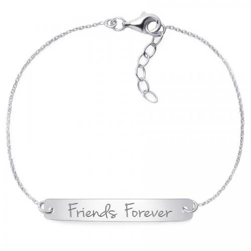 "Armband mit Gravur ""friends forever"" - 925 Sterlingsilber | gravierbar"