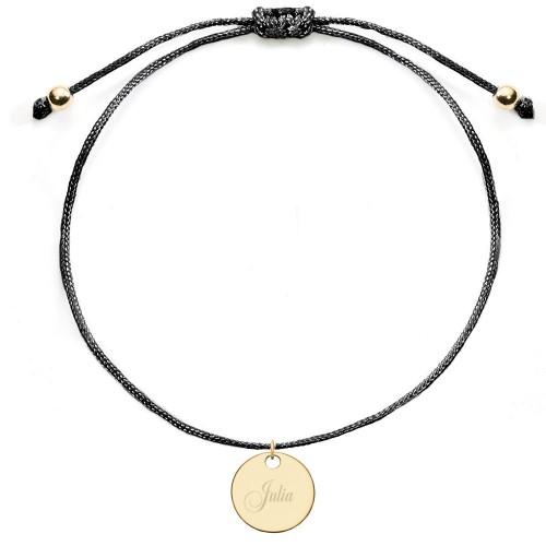 Armband mit runder Gravurplatte | individuell gravierbar