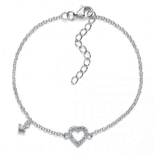 Herz-Armband Sparkling Heart mit Zirkonia - 925 Sterlingsilber