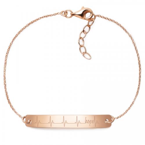 Armband Herzschlag Hope - 925 Sterlingsilber