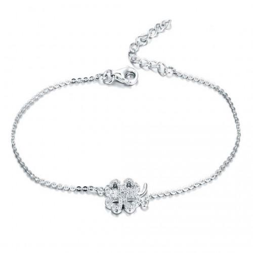 Kleeblatt Armband - 925 Sterlingsilber