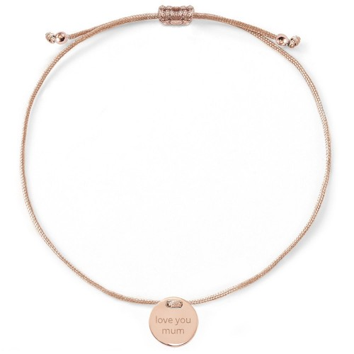 Armband - love you mum - Rückseitengravur möglich