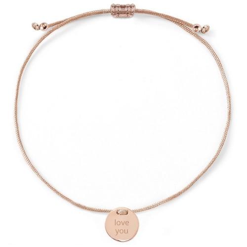 """Armband """"love you"""" mit Rückseitengravur - 925 Sterlingsilber"""