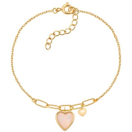 Armband Pastel Heart - 925 Sterlingsilber