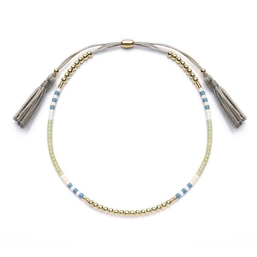 Armband - Quastenzauber-Grau