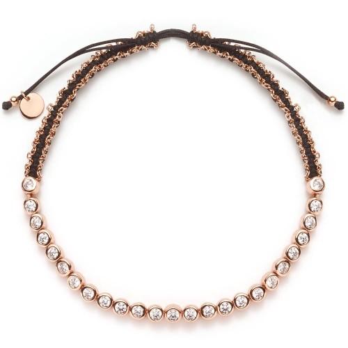 Armband mit Zirkonia rosévergoldet