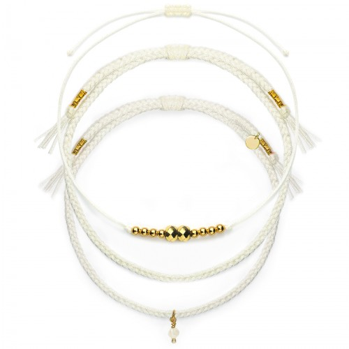 "Armband-Set ""Golden Mini Pearl"""