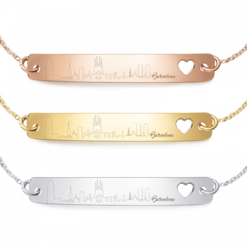 "Armband mit Silhouette ""Deiner Stadt"" | 925 Sterlingsilber"