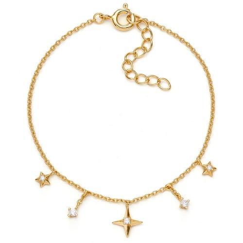 Armband Andromeda mit Zirkonia - 925 Sterlingsilber