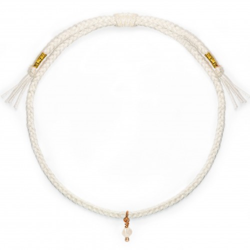 Armband White Mini Pearl