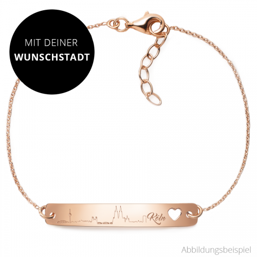 "Armband mit Silhouette ""Wunschstadt"" 