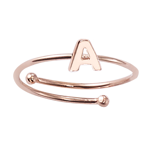 "Ring mit Buchstabe ""A"" - 925 Sterlingsilber"