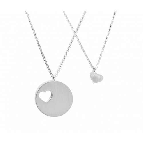 """Collier-Set """"Carry One Heart"""" - gravierbar"""