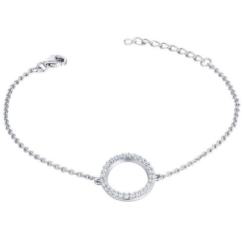 Kreis - Armband mit Zirkonia - Sparkling Circle - 925 Sterlingsilber