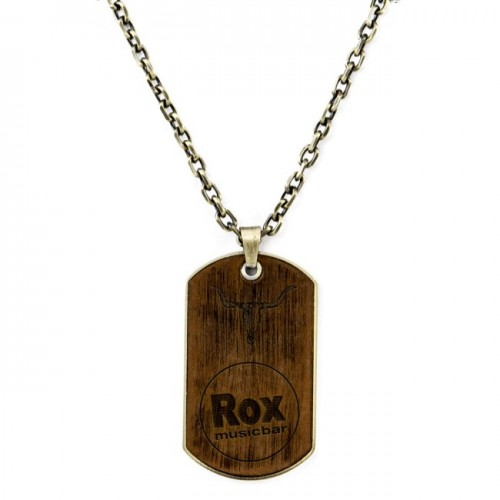 Dog Tag Halskette Rox used - Braun