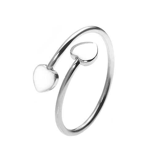Herz-Ring Double Love - größenverstellbar