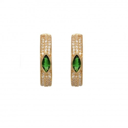 Emerald Hoops - Pour Toi Jewelry