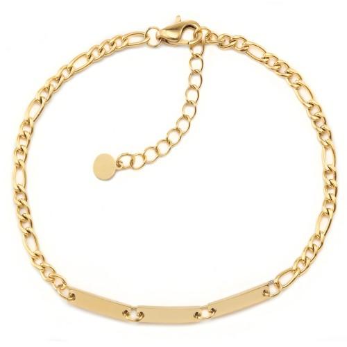 Figaro-Armband Trinité mit Gravur