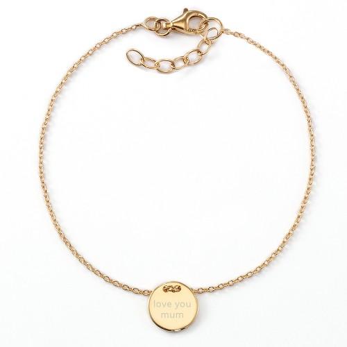 "Gravur-Armband ""Love You Mum"" - individuell gravierbar, 925 Sterlingsilber"