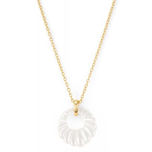 Halskette Aura mit Perlmutt - 925 Sterlingsilber