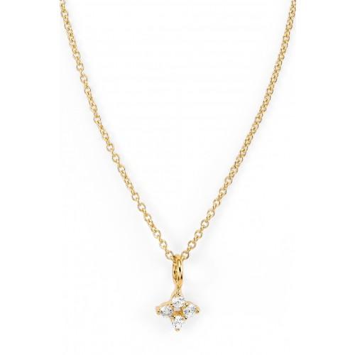 Halskette Cluster mit Zirkonia - 925 Sterlingsilber