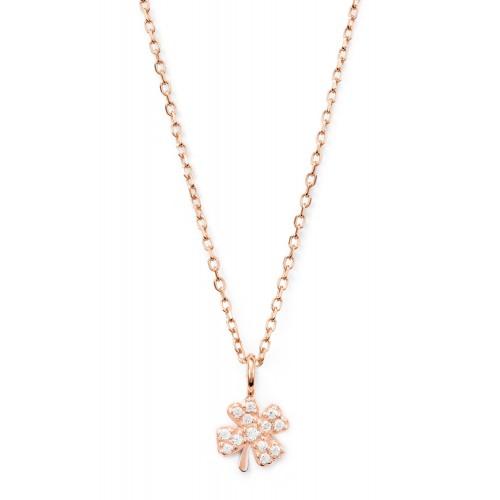 Halskette mit Kleeblatt Good Luck - 925 Sterlingsilber
